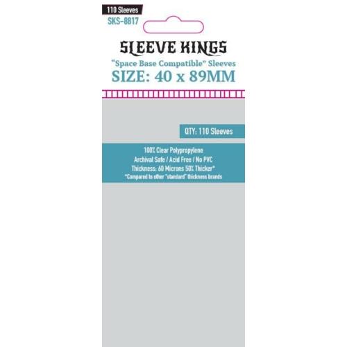 "Sleeve Kings ""Space Base Compatible"" Kártyavédő (40x89mm, 110db/csomag)"