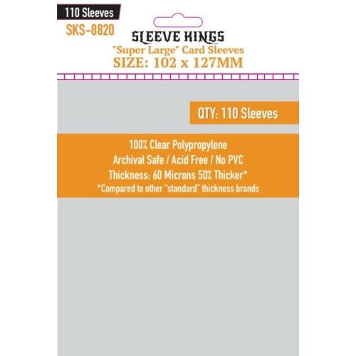 """Sleeve Kings """"Super Large"""" Kártyavédő (102x127mm, 110 db/csomag)"""