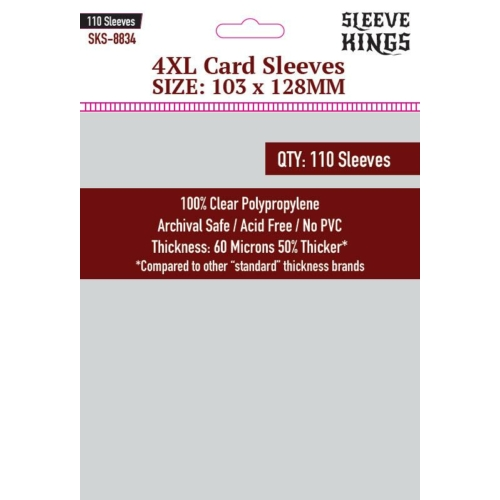 Sleeve Kings 4XL Kártyavédő (103x128mm, 110db/csomag)