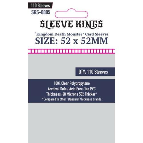 "Sleeve Kings ""Kingdom Death Monster"" Kártyavédő (52x52mm, 110 db/csomag)"