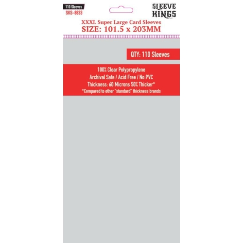 Sleeve Kings XXXL Super Large Kártyavédő (101,5x203mm, 110db/csomag)