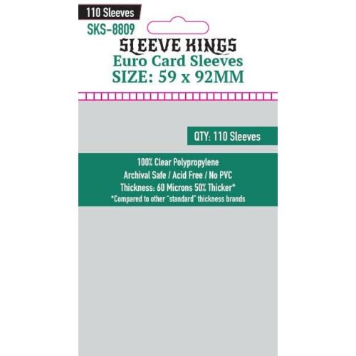 Sleeve Kings Euro Kártyavédő (59x92mm, 110 db/csomag)