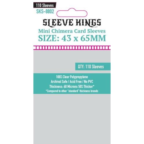Sleeve Kings Mini Chimera Card Kártyavédő (43x65mm, 110 db/csomag)