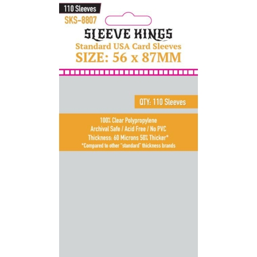 Sleeve Kings Standard USA Kártyavédő (56x87mm, 110 db/csomag)