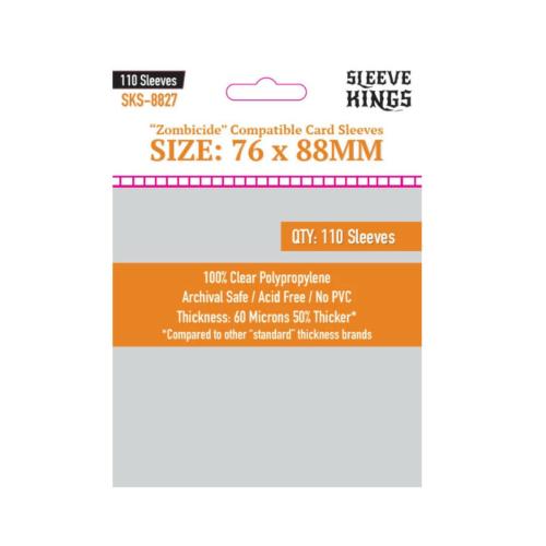 Sleeve Kings Zombicide Kártyavédő (76x88mm,110 db/csomag)